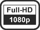 Auflösung Full-HD 1080p