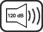 Lautstärke 120dB